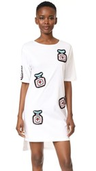 Michaela Buerger Oversize T Shirt Dress White Multicolor