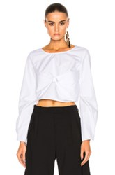 J.W.Anderson J.W. Anderson Long Sleeve Top In White