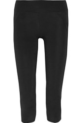 Live The Process Cropped Stretch Leggings Black