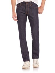 Nudie Jeans Finn Straight Leg Jeans Dark Blue