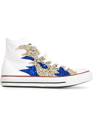 Converse Sequin Flame Sneakers White