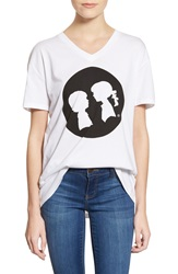 Boy Meets Girl 'Full Circle' Logo Tee White