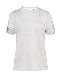 Ted Baker Narva Cbn Jersey Cut Out Sleeve Top Grey Marl