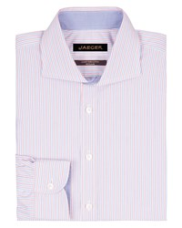 Jaeger Men's Contrast Stripe Regular Shirt Pink