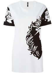 Versus Lion Print T Shirt White