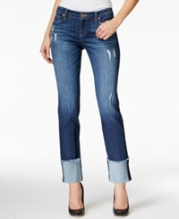 Kut From The Kloth Cameron Cuffed Boyfriend Hard Working Wash Jeans