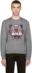 Kenzo Grey Embroidered Tiger Pullover