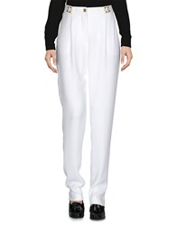 Versace Collection Casual Pants Ivory