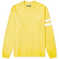 Fred Perry Authentic Engineered Stripe Crew Sweat Yellow