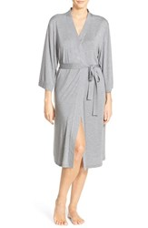 Nordstrom Lingerie Women's Nordstrom 'Moonlight' Jersey Robe Grey Steel Heather