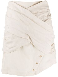Each X Other Textured Wrap Front Skirt 60