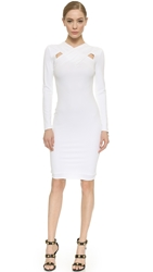Versace Long Sleeve Dress White