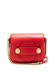 Stella Mccartney Popper Small Faux Leather Cross Body Bag Red