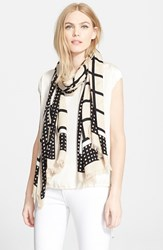 Women's Kate Spade New York 'Window Panes' Scarf