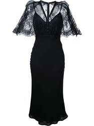Self Portrait Lace Panel Dress Women Polyester Polyimide 8 Black