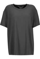 Norma Kamali Stretch Jersey T Shirt Charcoal