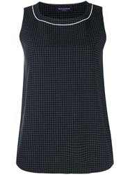 Piazza Sempione Checked Cropped Top Black