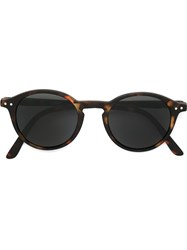See Concept Tortoise Shell Round Sunglasses Brown
