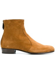 Lidfort Rear Zip Ankle Boots Nude And Neutrals