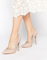 Asos Playlist Pointed High Heels Nude