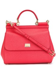 Dolce And Gabbana Sicily Tote Pink Purple