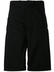 11 By Boris Bidjan Saberi Drop Crotch Shorts Black