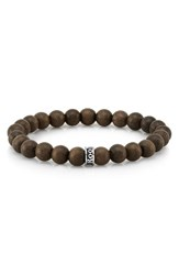 Room101 Men's Room 101 Wood Bead Bracelet Green