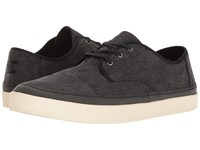 Toms Paseo Sneaker Black Washed Canvas Rand Men's Lace Up Casual Shoes