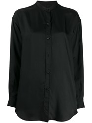 Alberto Biani Band Collar Long Length Blouse Black