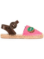 Dolce And Gabbana Pineapple Kiwi Patch Espadrilles Pink Purple