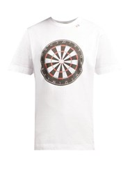 Hillier Bartley Dartboard Print Cotton T Shirt White Multi