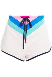 Wildfox Couture Woman Color Block Cotton Blend Jersey Shorts Multicolor