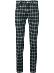 Guild Prime Check Skinny Trousers Blue
