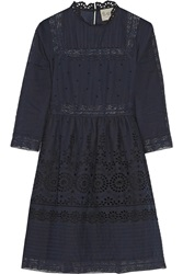 Sea Daisy Lace Trimmed Broderie Anglaise Cotton Dress