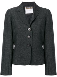 Moschino Vintage Fitted Jacket Grey