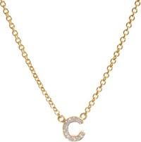 Jennifer Meyer Initial Pendant Necklace Colorless