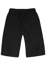 Maison Mihara Yasuhiro Distressed Black Cotton Shorts