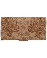 Guess Arianna File Clutch Brown