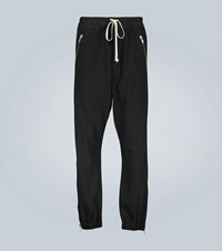 Rick Owens Cotton Trackpants With Side Zippers Black