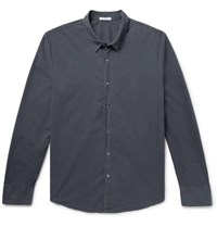 James Perse Cotton Poplin Shirt Navy