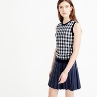 J.Crew Collection Featherweight Cashmere Shell In Gingham