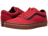 Vans Old Skool Gum Racing Red Black Skate Shoes
