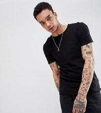 Heart And Dagger Muscle Fit T Shirt With Embroidery Black
