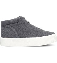 Carvela Little Zip Up Fabric Trainers Grey