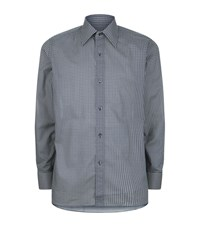 Tom Ford Circle Print Shirt Male Blue