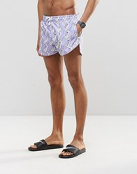 Abuze London Nuh Answa Short Swim Shorts Purple