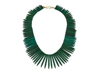 Kenneth Jay Lane 9986Ng Gold Chain Sticks Necklace Green Necklace