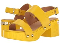Love Moschino Chunky Wooden Sandal Yellow Women's Dress Sandals