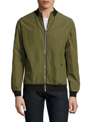 36 Pixcell Long Sleeve Bomber Jacket Olive