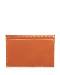 Ralph Lauren Polo Pebbled Leather Billfold Wallet Brown